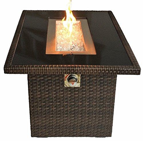 Outland Fire Table 35000 Btu Propane Wblack Tempered Glass Tabletop