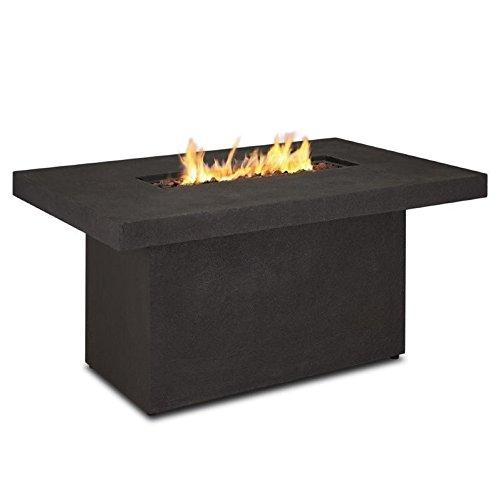 Real Flame 9640lp-tkb Ventura Rectangle Chat Propane Fire Table Large Kodiak Brown
