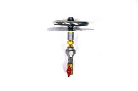 MLFPK8 8in Flat Pan Match Lit Firepit Insert