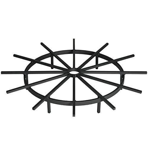 Heritage Products Ship's Wheel Firewood Grate For Fire Pit, 28 Inch Diameter