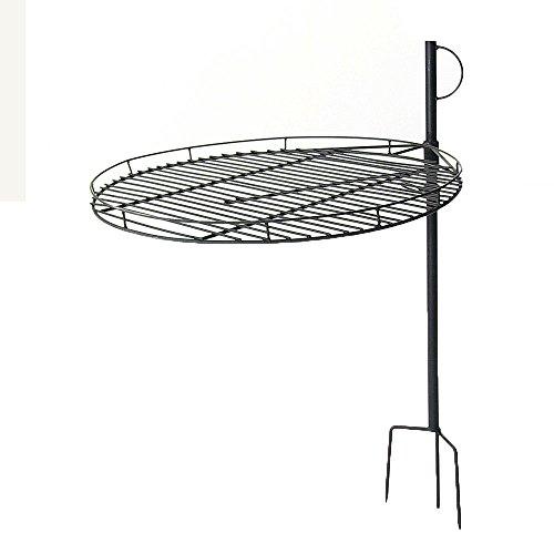 Sunnydaze Height Adjustable Fire Pit Cooking Grate, 24 Inch Diameter