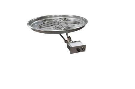 PENTA37FPPK 37in Bowl Pan with Penta Burner Manual SparkFlame Sensing Firepit Insert