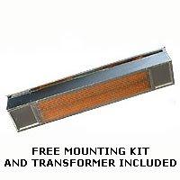 SunPak - 12004-2 - S34 Propane Gas Outdoor Hanging Patio Heater - Aluminized Black Finish - 34k BTU