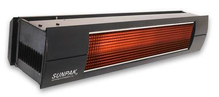 Sunpak S25 25000 BTU Hanging Patio Heater - Black - Natural Gas NG - Black Front Fascia Kit - Plus Free Sunpak eGuide