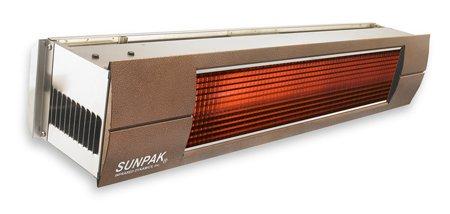 Sunpak S25S 25000 BTU Hanging Patio Heater - Stainless Steel - Propane Gas LP - Bronze Front Fascia Kit - Plus Free Sunpak eGuide
