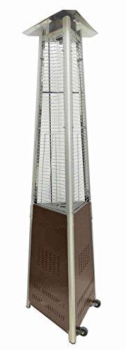 Az Patio Heaters Hlds01-cgthg Commercial Glass Tube Patio Heater Bronze