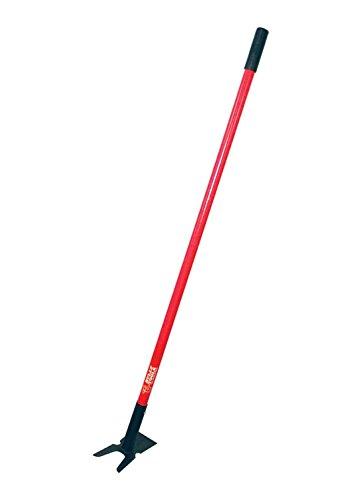 Bully Tools 92357 12-gauge 2-prong Weeding Hoe With Fiberglass Handle