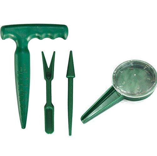 Multifunctional Garden Hand Tool Set Sowing Seeds Dispenser Seedlings Dibber And Widger Pistol Grip Dibber Model  Home Garden Store