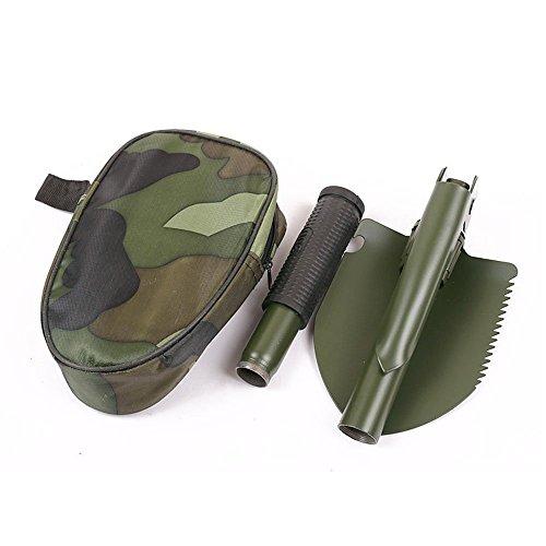 Folding Shovelmini Multi-function Camping Folding Shovel Mitiray Type Survival Trowel Dibble Pick Outdoor Tool