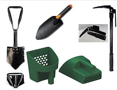 Treasure Hunters And Metal Detectors Tool Pak 8quotdigamp Pick Kit&quot - Sand Scoop Collapsible Folding Steel Pick