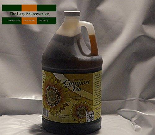 100 Organic Worm Compost Tea with Bat Guano Molasses 1 Gallon