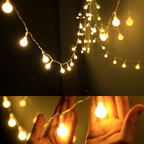 Ledinus 13ft4m 40 LED Globe Long String Lights Ball Fairy Light Decorative Lighting for Christmas TreeParty Wedding Garden HomeBattery-poweredWarm White