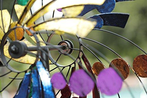 American Furniture Classics Polka Dot Plume Wind Spinner Yard Ornament