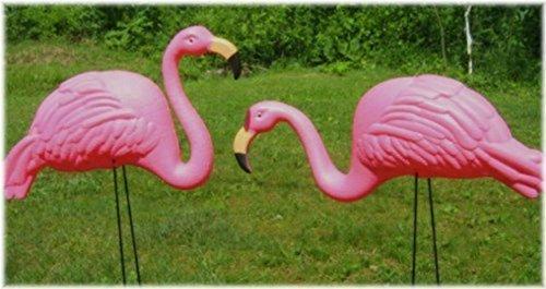 Set Of 2 Garden 27&quot Flamingo Yard Ornament