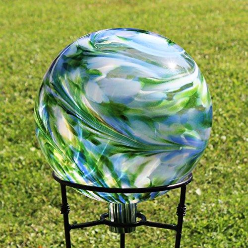 Glass Gazing Ballquotgarden View&quot 12 Inch By Iron Art Glass Designs