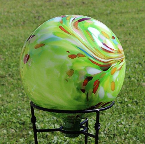 Glass Gazing Ballquotover Opal Greenquot 12 Inch By Iron Art Glass Designs