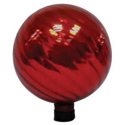 Very Cool Stuff Glass Gazing Globe 10-inch Red Swirl