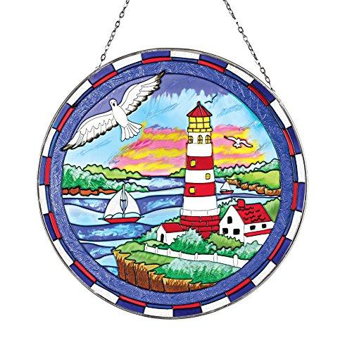 Coastal Lighthouse Stained-glass Suncatcher
