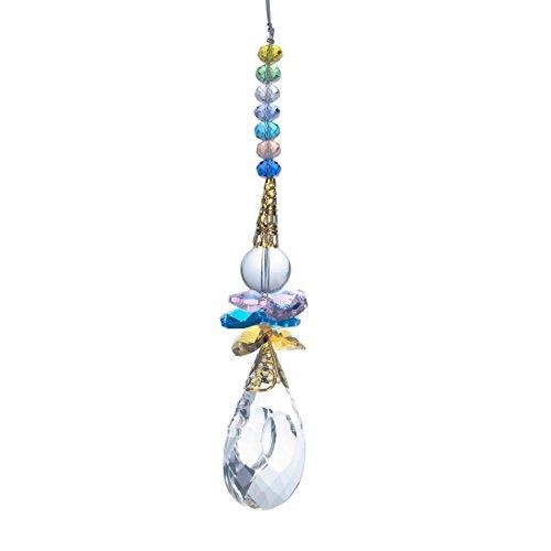 H&ampd Crystal Teardrop Pendant Chandelier Hanging Prism Suncatcher Home Decor