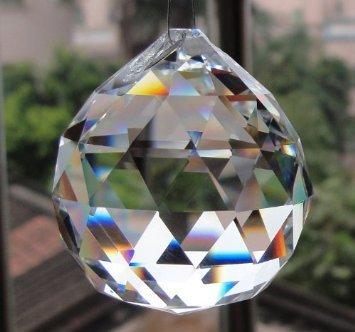 Large Crystal Ball Prism Pendant Suncatcher 40mm