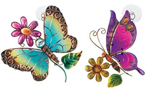 Regal Artamp Gift Suncatchers Blueamp Purple Butterfly Glass Sun Catchers For Home Garden Window And Wall Art