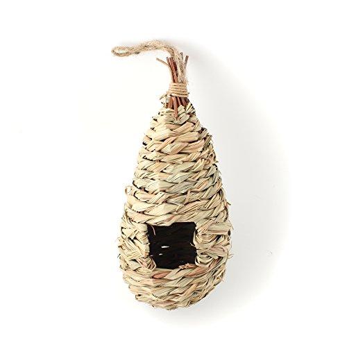 Natural Grass Woven Hanging Birdhouse Nest
