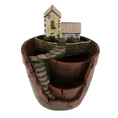 Resin Skygarden Patio Garden Planter Bed Box Herb Cacti Succulent Bonsai Pot