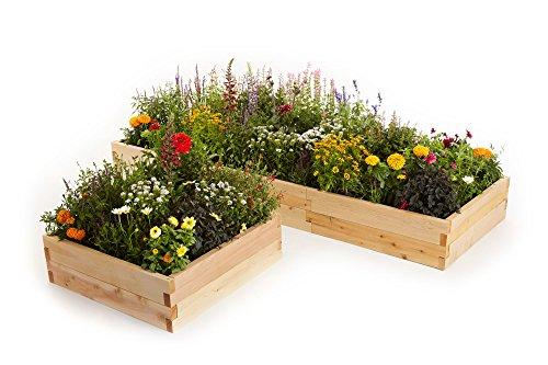 Naturalyards Raised Garden Bed 16-in-1 Kit cedar 3 Boards