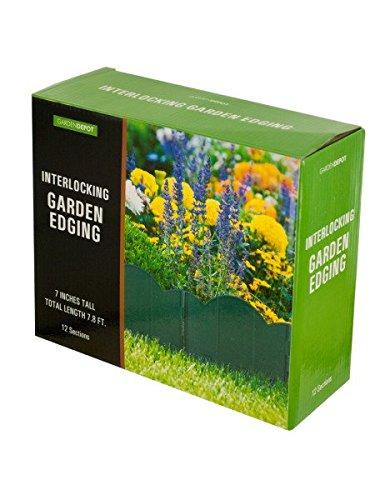 Interlocking Garden Edging - Green Scalloped