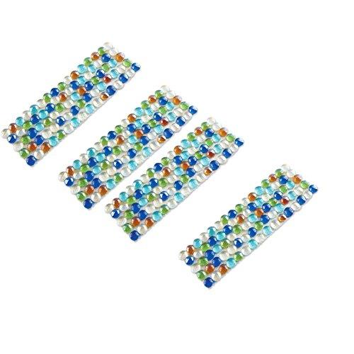Multicolor Glass Border Garden Edging - Set of 4 Multicolor
