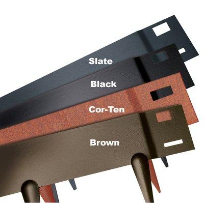 Everedge Steel Lawn Edging 3&quot Brown
