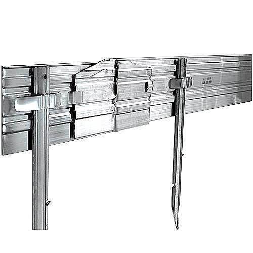 Permaloc Aluminum Edging Set of 6 Sections 8-foot Lengths Bronze Finish