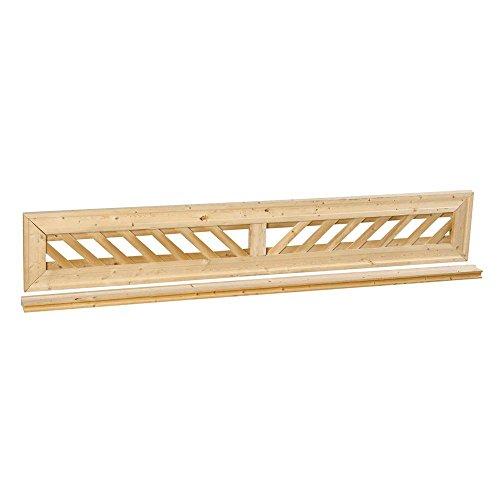 1 ft x 6 ft Decorative Lattice Wood Fence Panel Top Kit