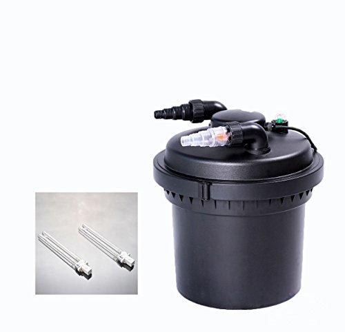 2100 Gal Pressure Pond Filter 13w Uv Sterilizer Aquarium Filter Koi Fish Free Replacement Bulb