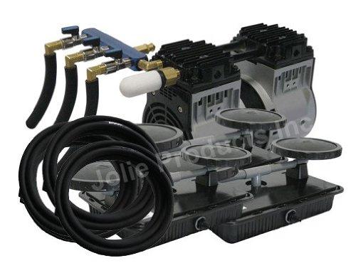 EasyPro PA66 Rocking Piston Pond Aeration System 12 HP Kit with Tubing