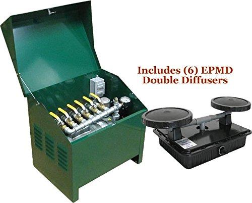 EasyPro Sentinel 1 HP Rotary Vane Pond Aeration System Aerates UpTo 6 Acres
