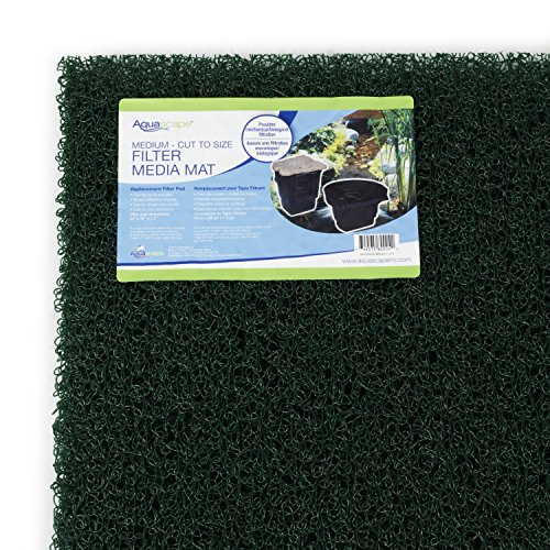 Aquascape Filter Media Mat 24 x 39  Medium Density  Green  for Pond Skimmer and Water Filtration Systems