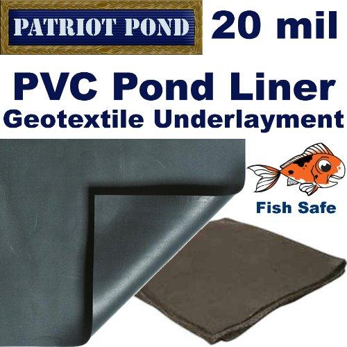 20 x 20 20 mil PVC Pond Liner Underlayment Combo