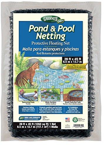 Gardeneer By Dalen Pondamp Pool Netting Protective Floating Net 28 X 45