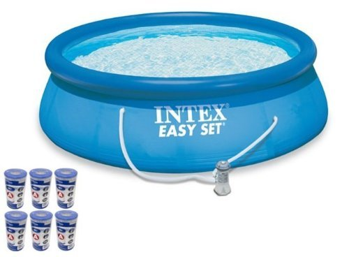 Intex 15 x 48 Easy Set Swimming Pool Kit w 1000 GPH GFCI Filter Pump 28167EH