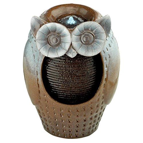 Design Toscano Professor Owl Cascading Garden Fountain