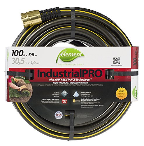 Element ELIH58100 IndustrialHome Lead Free Kink Resistant 58-Inch-by-100-Foot Garden Hose Brown
