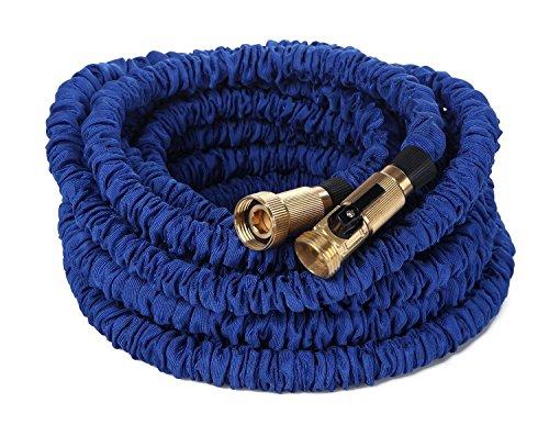 YYSJ Garden hose Heavy Duty Expandable Hose with Safe Brass Connector 100FT Blue