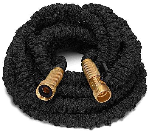 Riemex 75ft Best Expandable Garden Water Hose-triple Latex-top Quality- Brass Fittings Connectors Flexible -