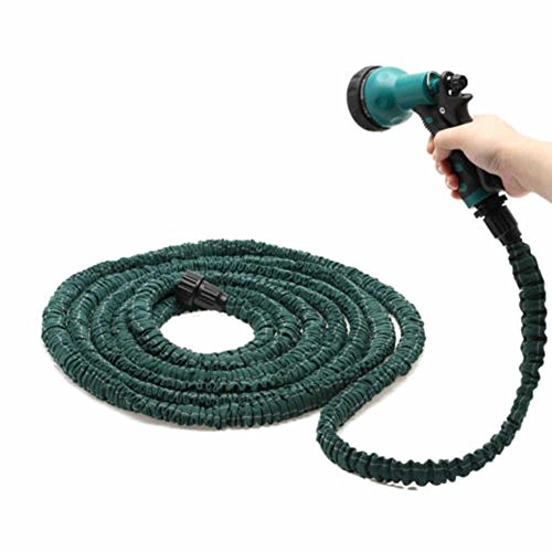 Bronco Latex 50 FT Expanding Flexible Garden Water Hose with Spray Nozzle