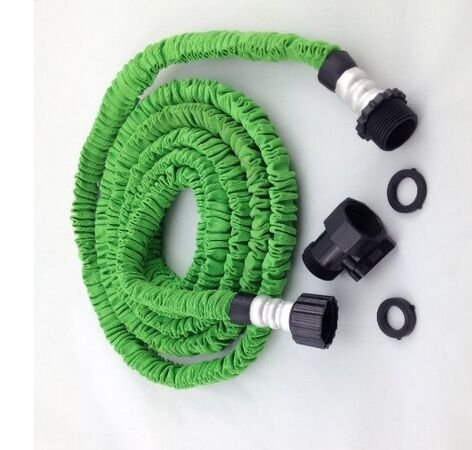 Worth And Nice 50 Feet Flexible Expandable Expanding Garden Lawn Water Hose  Green