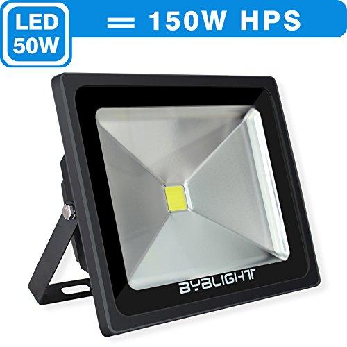 Byb 50 Watt Super Bright Outdoor Led Flood Light 150w Hps Bulb Equivalent Waterproof 3850lm Daylight White