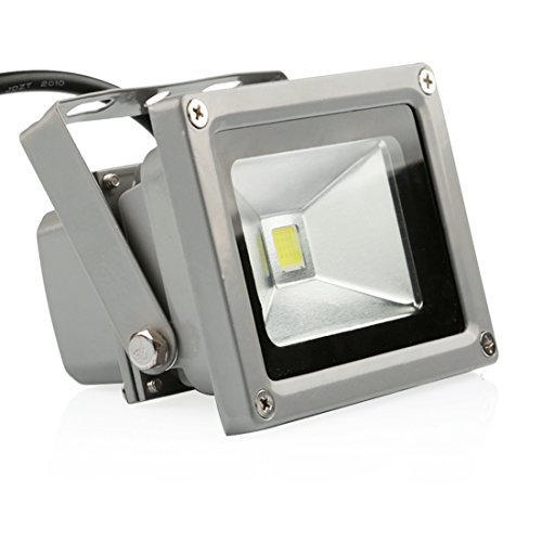 LEDMO 10W LED Flood Lights Waterproof IP65 for outdoor Daylight White 6000K 800lm 50W Halogen Equivalent Security Lights Floodlight