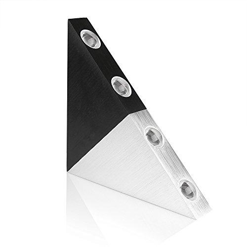 Lemonbest&reg Modern Triangle 5w Led Wall Sconce Light Fixture Indoor Hallway Up Down Wall Lamp Spot Light Aluminum