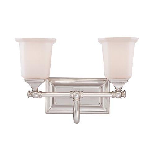 Quoizel NL8602BN Nicholas 15-Inch W 2 Light Bath Wall Light Fixture